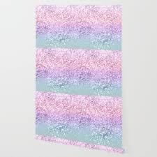 Unicorn Girls Glitter 1 Shiny Pastel Decor Art Society6 Wallpaper By Anitabellajantz