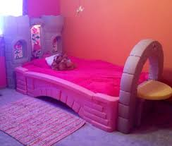step 2 princess palace castle bed toddler to twin with table