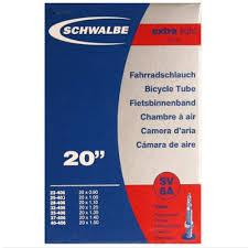chambre a air bmx schwalbe chambre à air pour vélo 20 pouces légère à valve presta