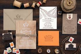 Wood Orange Sun Valley Wedding Invitations Lovely Paper