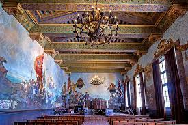 mural room at the santa barbara courthouse picture of santa