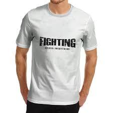 amazon com men u0027s fighting solves everything funny t shirt clothing