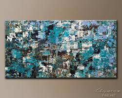 large modern abstract painting and mountains