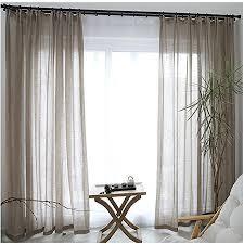 cystyle 1er gardinen vorhänge transparent leinen optik mit kräuselband vorhang voile fensterschal dekoschal für wohnzimmer kinderzimmer schlafzimmer