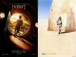 Posters For The Hobbit An Unexpected Journey And Star Wars Episode I Phantom