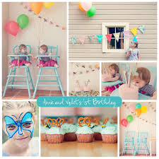 Baptism Decoration Ideas For Twins by 1st Birthday Party Ideas For Twins Places To Visit Pinterest