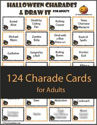Halloween Books For Adults 2017 by 124 Halloween Charades For Adults Printable Charades Game