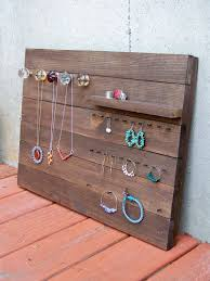 Jewelry Display Easel Rustic Aged Wood This Is A Cool Idea Love The House Crocheted Ring Reclaimed Organizer Large
