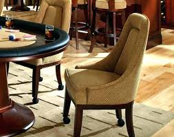 Dining Chairs With Casters And Arms Caster Dining Room Chairs