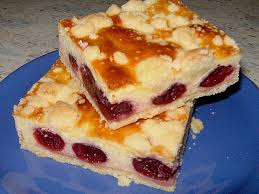 quarkkuchen mit kirschen und streuseln blechkuchen mürbeteig