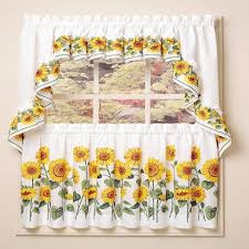 White Kitchen Curtains With Sunflowers by Beautify Your House With Kitchen Curtain Ideas Kitchen Ideas