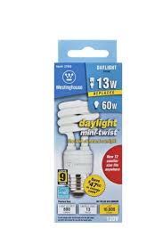 13 watt mini twist cfl light bulb 6500k daylight e26 medium