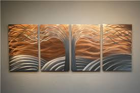 Tree Of Simple Copper Wall Art