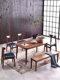 2019 Black Walnut Wood Dining Table And Chair Modern Simple Northern Europe  All Solid Wood Dining Table Japanese Rectangular Small Family Solid W From  ...
