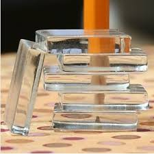 50 1 inch clear glass square pendant magnet tiles