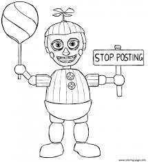 Balloon Boy Phantom Five Nights At Freddys Fnaf Coloring Pages Printable To Print Adult