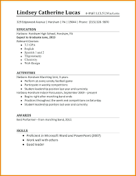 Sample Job Resume For High School Student First Time Examples Students