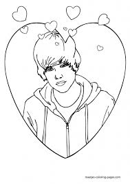Justin Bieber Coloring Pages For Kids And Adults Intended