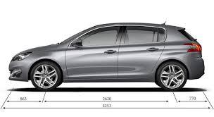 taille coffre nouvelle 308 caractéristiques techniques de la peugeot 308 féline