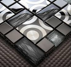 2018 glass mosaic tile metal mosaic tiles stainless steel