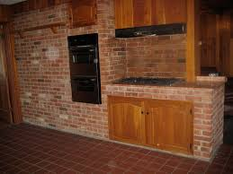 KitchenOutstanding Vintage Kitchen Design With Built In Wooden Cabinet Then Astounding Photo Brick