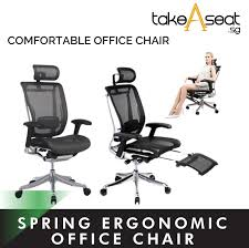 TakeaseatSpring Luxury Ergonomic Chair ★ Mesh Office Chair ★ Adjustable  Lumbar Support ★ Home And Office Use