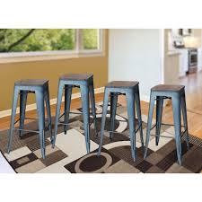 100 Loft Style Home Ameri 30 In Stackable Gunmetal Bar Stool With Dark