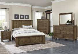 Vaughan Bassett Bedroom Sets by Collaboration Rustic Pine Panel Bed Bernie U0026 Phyl U0027s Furniture