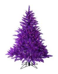 45 Foot Pre Lit Ash Purple Christmas Tree With Lights