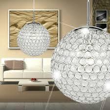 design pendel leuchte kristall kugel küchen tisch