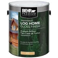 behr premium 1 gal clear gloss finish log cabin home 01501 the