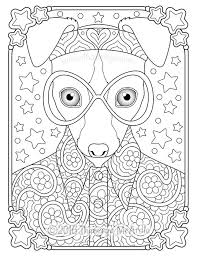 Hipster Animals Coloring Book Hippie By Thaneeya Mcardle