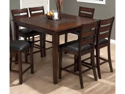Jofran Baroque Brown 697-50+4xBS923KD 5 Piece Counter Height ...