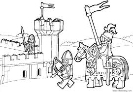 Lego Medieval City Coloring Page