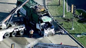 100 Garbage Truck Accident Truck Driver Pinned In Crest Hill Crash Abc7chicagocom