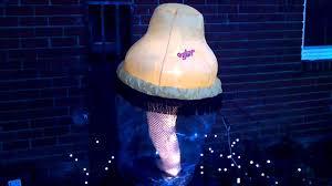 Leg Lamp Christmas Sweater Diy by Inflatable Leg Lamp Youtube
