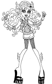 Lagoona Blue Monster High Coloring Page