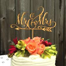Mr Mrs Arrow Cake Topper Rustic Wedding And Decor Reception