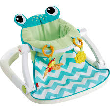 100 Frog High Chair Fisher Price SitMeUp Floor Seat Citrus Hddealscom