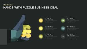 Hands Puzzle Thumbs Up Keynote Template Deal Tombstone Powerpoint With Business Registration Car Logo