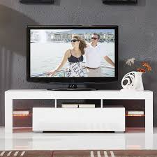 55 Inch Portable Detachable LED Light High Gloss TV Unit