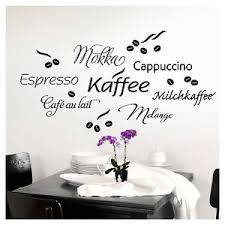 deko wandtattoos wandbilder mit kaffee fürs esszimmer