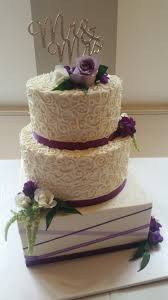 Purple Wedding Cake Mixed Shape Round And Square Wilsonville