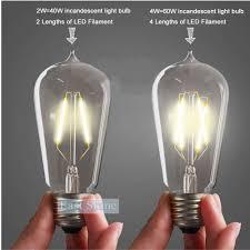 retro vintage led edison bulb e27 warm white st58 filament bulbs