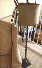 Pottery Barn Floor Lamp Shades by Sold Tbw Pottery Barn Floor Lamp Turned Bronze Colored Metal Base