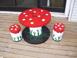 Small Toadstool Table & Chairs Wooden Set | Trade Me Red Toadstool Table Masquespacio Designs Adstoolshaped Fniture For Missana Mushroom Kids Stool Uncategorized Chez Moi By Haute Living Propbox Event Props Fniture Hire Dublin How To Make A Bistro Set Garden In Peterborough Swedish Woodland Robins Floral Side Magentarose Toadstools Fairy Garden