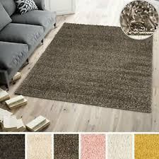 hochflor teppich einfarbig wohnzimmer schlafzimmer modern