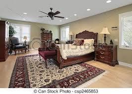 chambre a coucher de luxe maison maître luxe chambre à coucher cerise lit bois