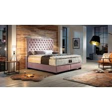 boxspringbett kenia canora grey farbe rosa samt größe 200 200 cm matratzenhärte h4 ab etwa 100 kg