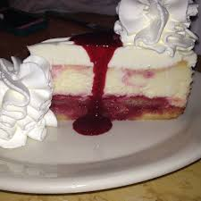 Lemon Raspberry Cream Cheesecake at Cheesecake Factory